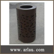 (BS-053) Outdoor Park Garden Metal Garbage Containers for Sale