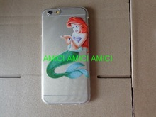 soft Cover Case For Apple iPhone6 iphone5 iPhone 5C Cases Rapunzel Princess Snow White Mermaid Transparent Shell