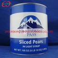 En lata en rodajas pera en almíbar ligero, De la salud en lata de alimentos proveedor