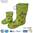 2015 Cheap Dog Printing Children Rubber Rain Boot with Cuff China Factory