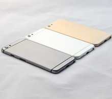 With Side Button and Flash Diffuser Alluminum Metal Back Housing Battery Door Cover For iPhone 6