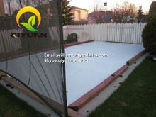 hdpe hockey shooting rink/ a complete set of synthetic ice rink/ ice skating rinks