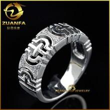 fashion wholesale wedding men silver ring 925