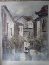 New arrival oriental water region in china painting on canvas