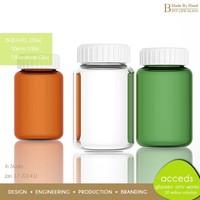 Handmade Pyrex Fashion Decorative Wholesale Mini Glass Green Pill Bottle