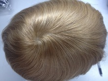 Remy European Hair Silicone Toupee with Factory, Hair Replacement System