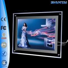 Super Bright Advertising Slim Acrylic Light Box Edge Lit