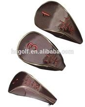 stitches logo nylon golf club head bags golf head covers