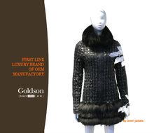 2015 Fashionable Winter Coat Style Short Warm Real Fur Collar Black Women Spring Duck Down Jacket