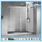 economical large size sliding 8mm tempered glass corner bath shower