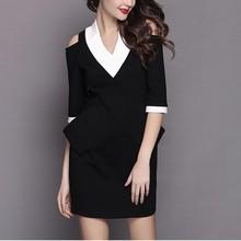 women dresses short v neck vestidos evening dress half sleeve evening dresses