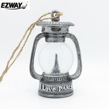 Funny gifts of decorative led latern with customized theme antique silver color