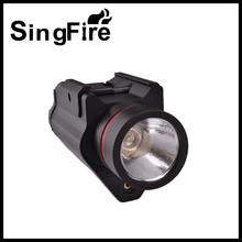 Optics Pistol Tactical Flash Light / Red Laser Sight Combo Torch Weapon Gun Light