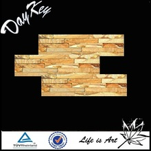 Natural yellow wooden culture stone in slate for wall decoration