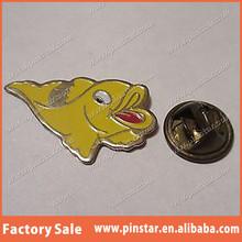 MARINE TROPICAL FISH AQUARIUM LAPEL PIN BADGE YELLOW
