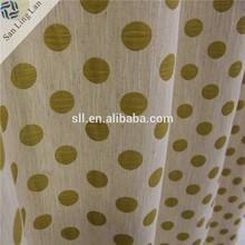 Jacquard on fancy organza window curtain sheer fabric