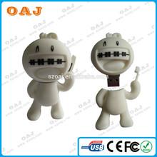 bulk promotional 2gb 4gb 8gb PVC usb flash drive with customized logo design