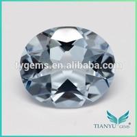 2015 Hot new products wuzhou gems light blue faceted nano Nanosital loose artificial diamond gemstone jewelry making wholesale