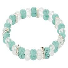 Fashion Beaded Shape Rhinestone Real Madrid Murano Glass Bracelet 82382
