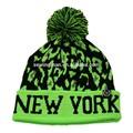 cappello da sci invernali sport caldo NY fairisle maglia pompon cappello beanie con bracciale