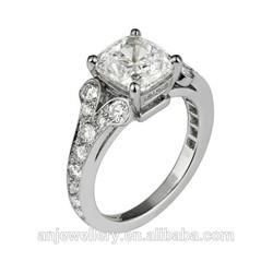 Princess cut diamond 14k gold jewelry wholesale