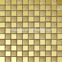 Gold Mirror Crystal Glass Mosaic Bar Counter Wall Brick