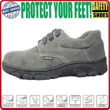 2015 Alibaba UAE New Design Gray Men Leather Safety Shoe