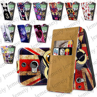 For HTC One M8 One 2 Printed PU Leather Magnetic Flip Wallet Case Cover + Stylus Pen