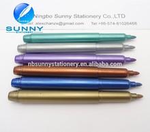multi colored metallic marker pen,aluminum permanent marker
