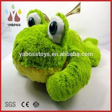Custom cute soft 25cm green frog plush toy