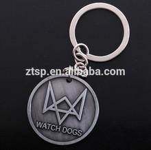 Watch Dog Keychain Alloy Pendant Watchdog Logo Figure Toy Key Chain Keyring Game Accessories