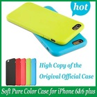 1:1 Original Pure Color Silicon Case Cover for Apple iPhone 6 & 6 plus