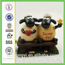 factory custom-made high quality polyresin cartoon animal goat