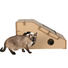 Pet House Foldable Corrugated Cardboard Cat Furniture