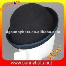 Alibaba new fashion women wool bowler hat wholesale