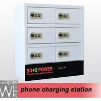 Luoyang custom durable commercial multi phone charger station with charging stand and base