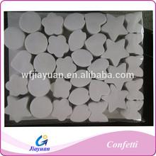 New design Sonwflake shape PVC paper confestti, white color paper confettis