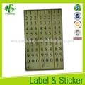 adhesivo de papel barato a4 ropa pegatinas tamaño de la etiqueta de tamaño
