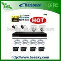 4 de la cámara NVR sistema de CCTV IP sistema de gas kit lpg