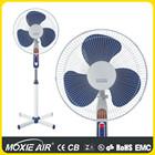 """Adjustable tilt angle blue stand fan 16"""""""
