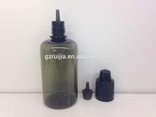 50 ml pequeña botella de licor de e cig líquido botella de plástico negro de plástico pet botella