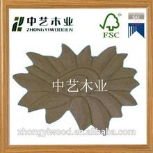 flower shape carving handmade decorative custom promotional cheap unfinished wooden decor