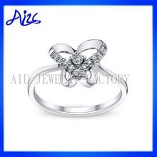 sterling silver diamond animal themed ring