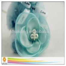 amazing quality wholesale price artificial/handmade decorative satin flower brooch