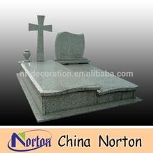Cruz decorativos de color personalizada ataúd de dibujo, florero, piedra sepulcral del granito ntgt- 028