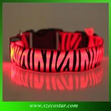 New Nylon LED Dog Night Safety Collar Flashing Light up Dog Collar