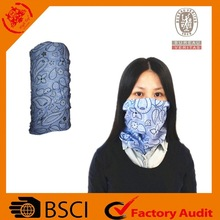 2015 the lowest price and high quality BSCI audit polyester rmultifunctional neck warmer outdoor sports