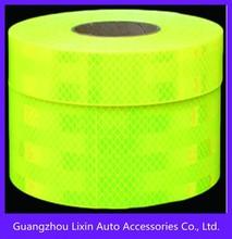 Lime Green Reflective tape ,fluorescent green diamond grade reflective tape 3M
