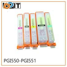 5colors reset printer ink cartridge for canon pgi-550 cli-551