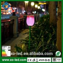 Red/green/blue Tulip Flower Solar LED Light/portbale Solar led lawn light/ garden lamp